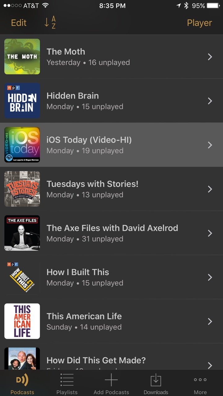 Podcasts List